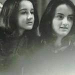 Io e Betta a 12 anni, modelle per Tato